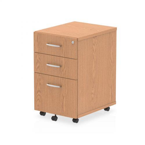 Impulse 3 Drawer Under Desk Pedestal Oak I001660