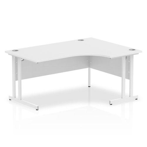 Impulse 1600 Right Hand White Crescent Cantilever Leg Desk White