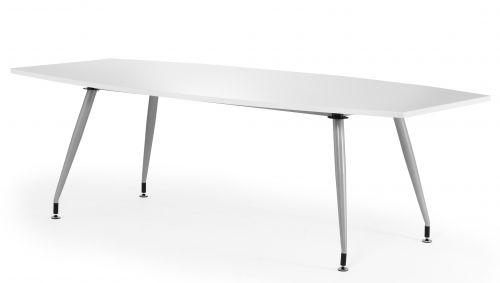 White Gloss Writable 2400 Boardroom Table
