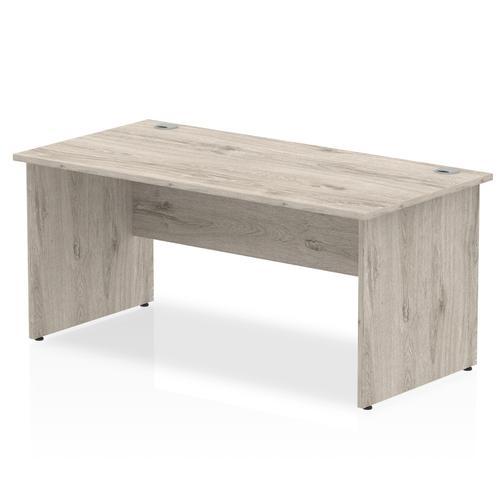 Impulse 1600/800 Rectangle Panel End Leg Desk Grey Oak