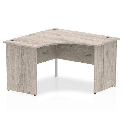 Impulse Panel End 1200 Corner Desk Grey Oak