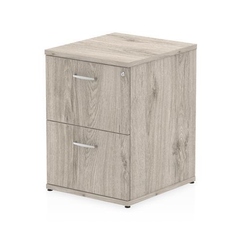 Impulse 2 Drawer Filing Cabinet Grey Oak I003241