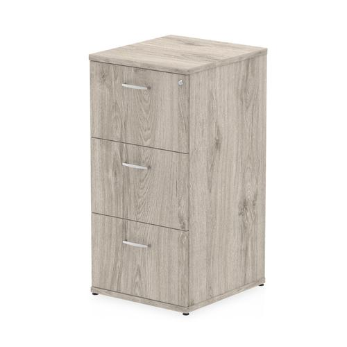 Impulse Filing Cabinet 3 Drawer Grey Oak