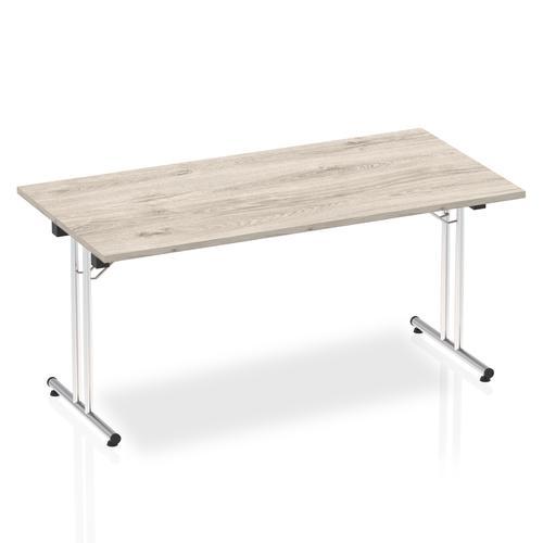 Impulse 1600 Folding Rectangular Table Grey Oak