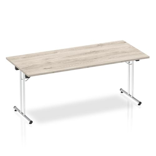 Impulse 1800 Folding Rectangular Table Grey Oak