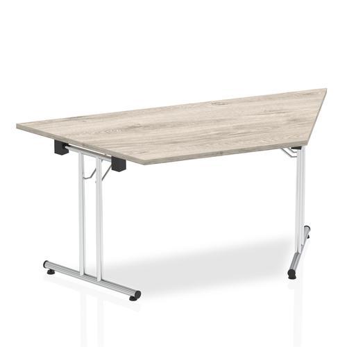 Impulse Folding Trapezium Table 1600 Grey Oak