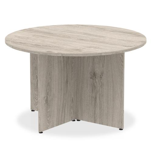 Impulse Round Meeting Table 1200 Grey Oak