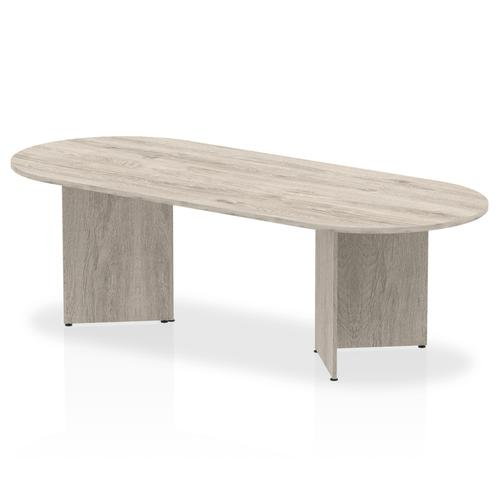 Impulse 2400 Boardroom Table Grey Oak Arrowhead