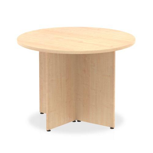 Impulse 1000mm Round Table Maple Top Arrowhead Leg