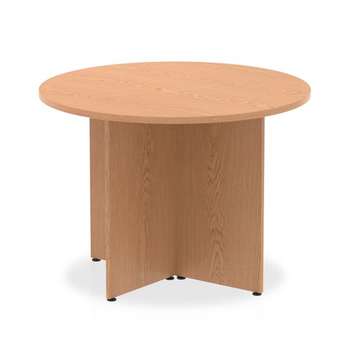 Impulse Round Meeting Table 1000 Oak