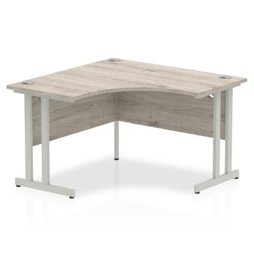 Impulse Cantilever 1200 Corner Desk Grey Oak