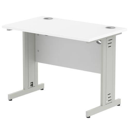 Impulse Cable Managed 1000 Rectangle Desk White