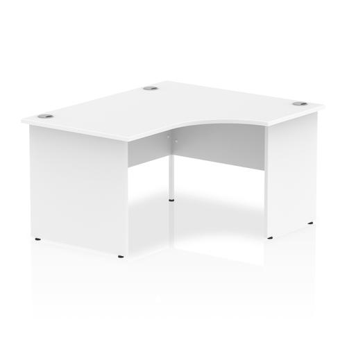 Impulse 1400mm Right Crescent Desk White Top Panel End Leg I003876