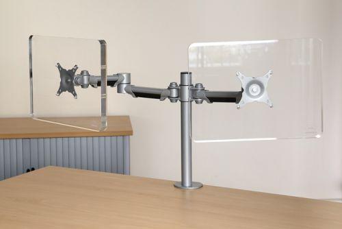Impulse Double Height Adjustable Flat Screen Monitor Arm