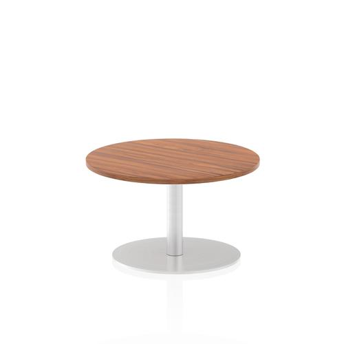 Italia Poseur Table Round 600 Top 475 High Walnut