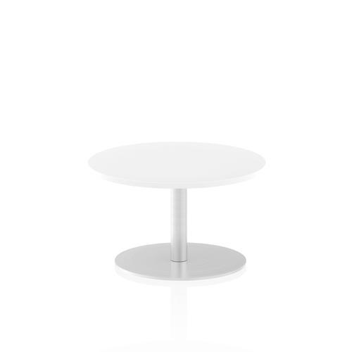 Italia Poseur Table Round 600 Top 475 High White