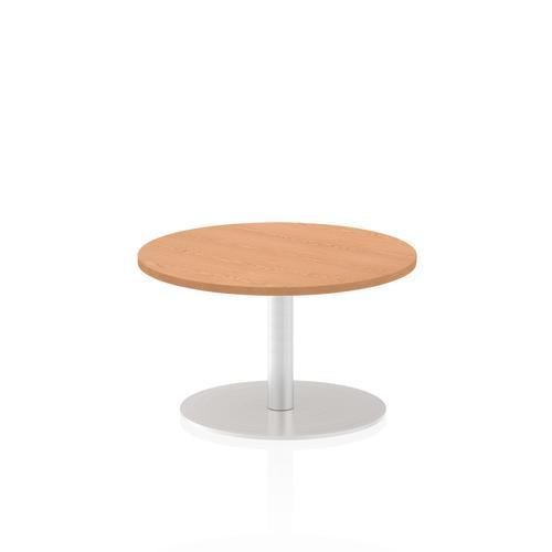 Italia Poseur Table Round 600 Top 475 High Oak
