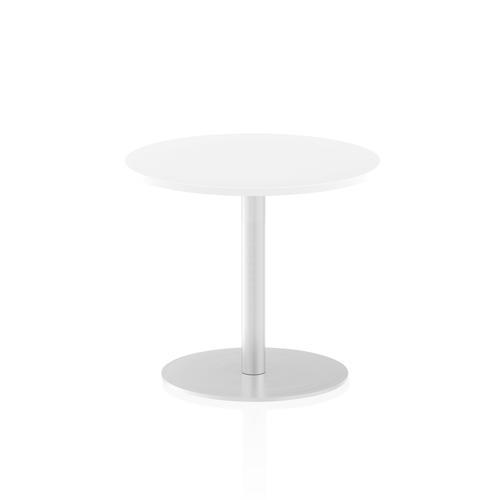 Italia Poseur Table Round 600 Top 725 High White