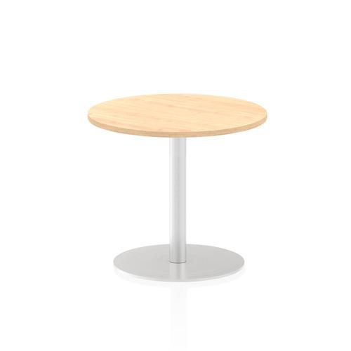 Italia Poseur Table Round 600 Top 725 High Maple