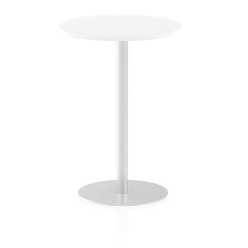 Italia Poseur Table Round 600 Top 1145 High White
