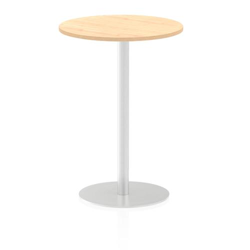 Italia Poseur Table Round 600 Top 1145 High Maple