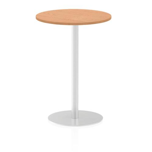 Italia Poseur Table Round 600 Top 1145 High Oak