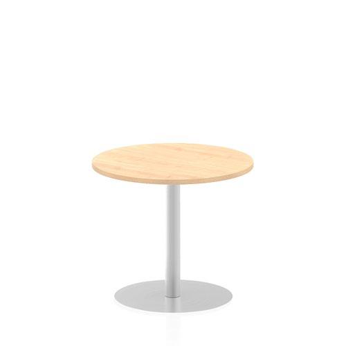 Italia 800mm Poseur Round Table Maple Top 725mm High Leg