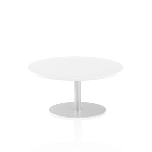 Italia Poseur Table Round 1000 Top 475 High White