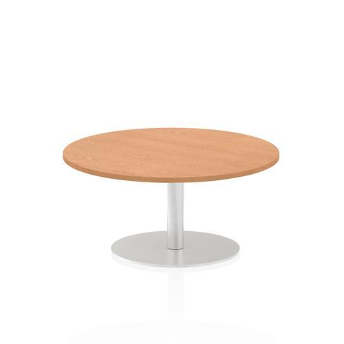 Italia Poseur Table Round 1000 Top 475 High Oak