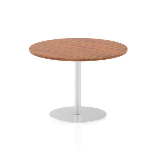 Italia Poseur Table Round 1000 Top 725 High Walnut