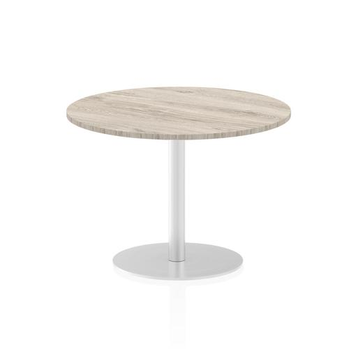 Italia Poseur Table Round 1000 Top 725 High Grey Oak