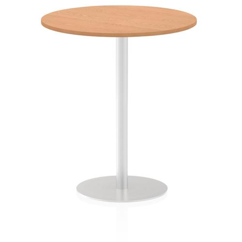 Italia Poseur Table Round 1000 Top 1145 High Oak
