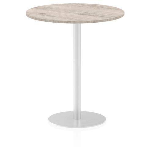 Italia Poseur Table Round 1000 Top 1145 High Grey Oak