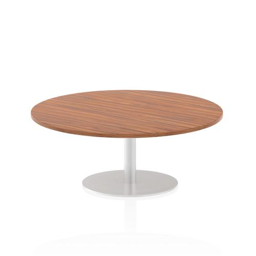 Italia Poseur Table Round 1200 Top 475 High Walnut