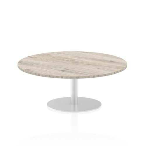 Italia Poseur Table Round 1200 Top 475 High Grey Oak