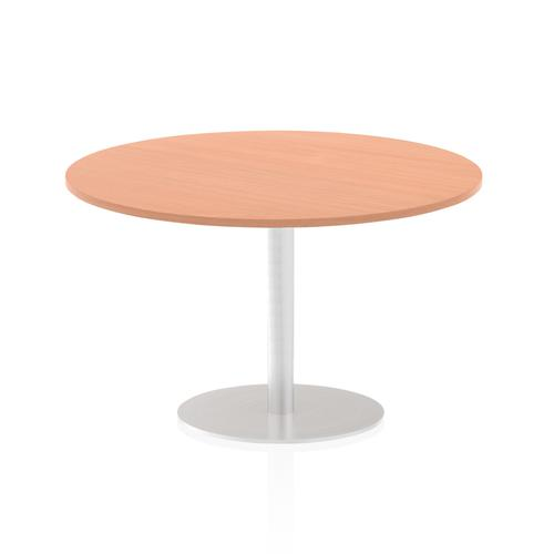 Italia Poseur Table Round 1200 Top 725 High Beech