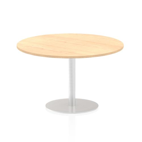 Italia Poseur Table Round 1200 Top 725 High Maple
