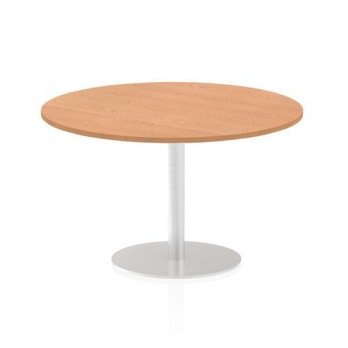 Italia Poseur Table Round 1200 Top 725 High Oak