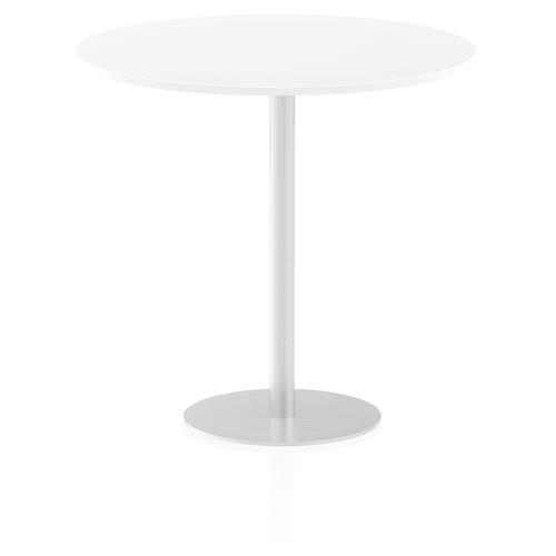Italia Poseur Table Round 1200 Top 1145 High White