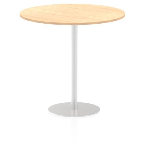 Italia Poseur Table Round 1200 Top 1145 High Maple