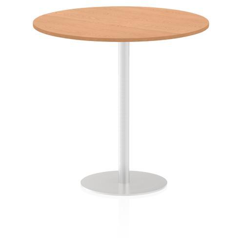 Italia Poseur Table Round 1200 Top 1145 High Oak