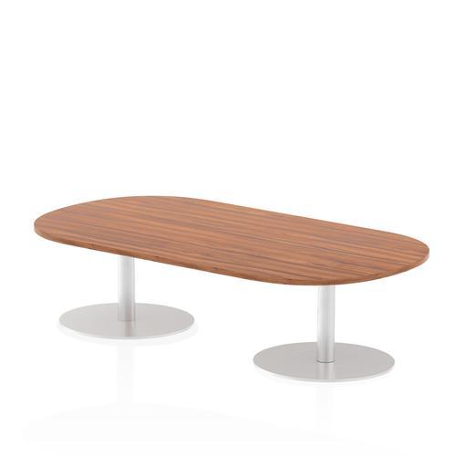 Italia Poseur Boardroom Table 1800 Top 475 High Walnut