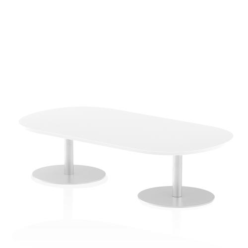 Italia Poseur Boardroom Table 1800 Top 475 High White