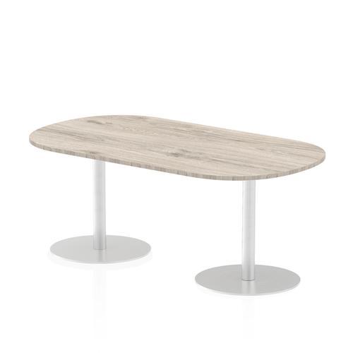 Italia Poseur Boardroom Table 1800 Top 725 High Grey Oak