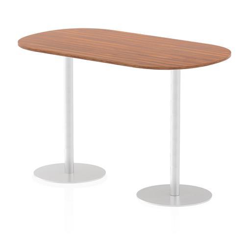 Italia Poseur Boardroom Table 1800 Top 1145 High Walnut