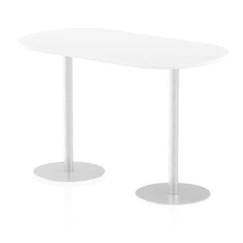 Italia Poseur Boardroom Table 1800 Top 1145 High White