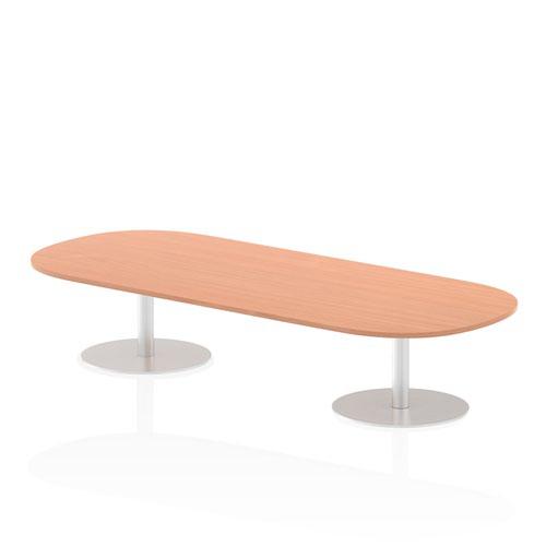 Italia 2400mm Poseur Boardroom Table Beech Top 475mm High Leg