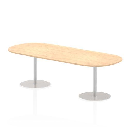 Italia 2400mm Poseur Boardroom Table Maple Top 725mm High Leg