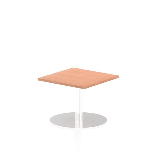 Italia Poseur Table Square 600/600 Top 475 High Beech