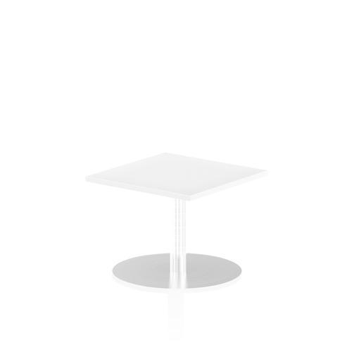 Italia Poseur Table Square 600/600 Top 475 High White